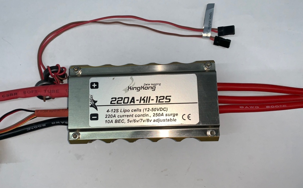 HiFei Elektroflugregler 4-12 Lipo`s, 220A/250A max., 10A BEC! mit wählbarer on
